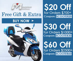 Free Gift & Extra $20 Off for Orders $700+Coupon: SCOOTER20; $30 Off for Orders $1000+Coupon: SCOOTER30; $60 Off for Orders $2500+Coupon: SCOOTER60 for All Scooters. Buy now!