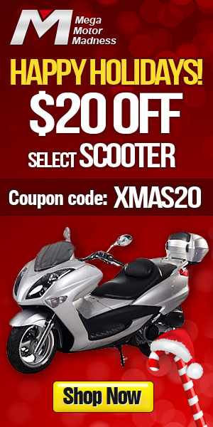 Happy Holidays! $20 off for Select Scooters. Coupon code: XMAS20. Ends Dec. 31. Shop now!