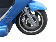 Front and rear disc braking system