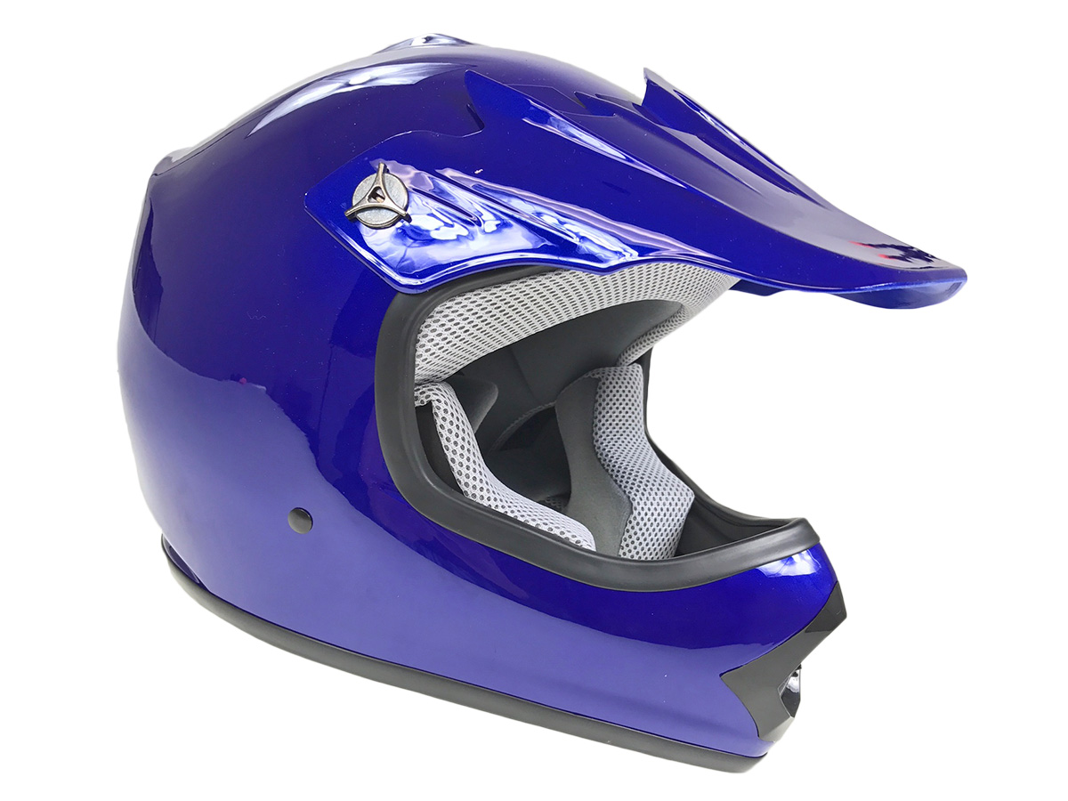 Youth Blue DOT Approved Dirt Bike ATV Motorcycle Motocross Offroad Helmet