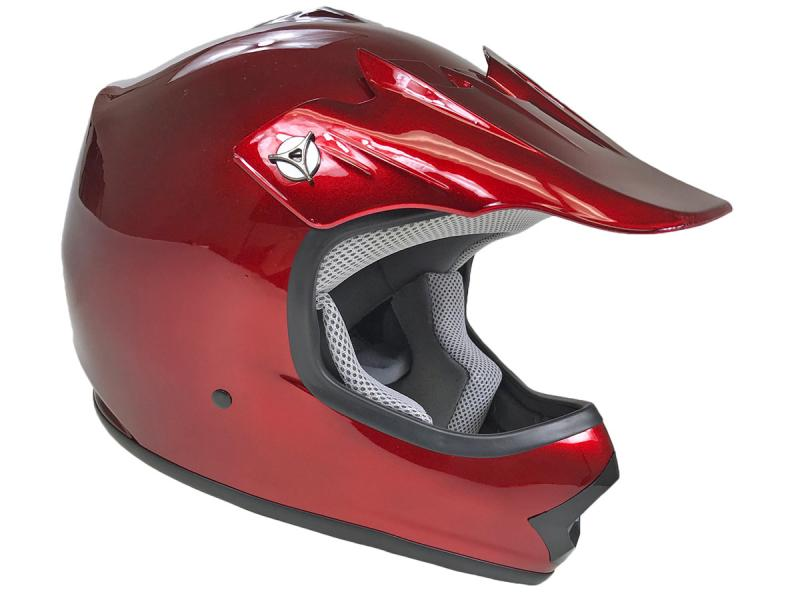 Youth Burgundy DOT Approved Dirt Bike ATV Motorcycle Motocross Offroad Helmet