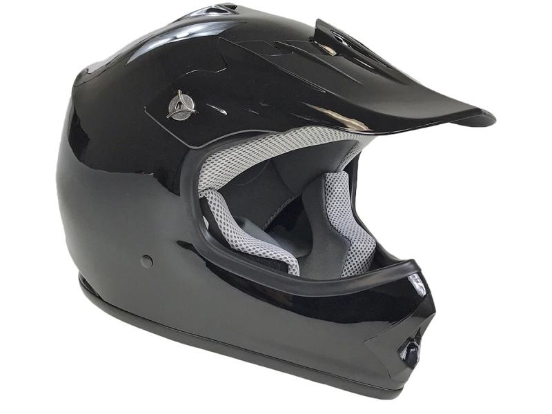 Youth Black DOT Approved Dirt Bike ATV Motorcycle Motocross Offroad Helmet