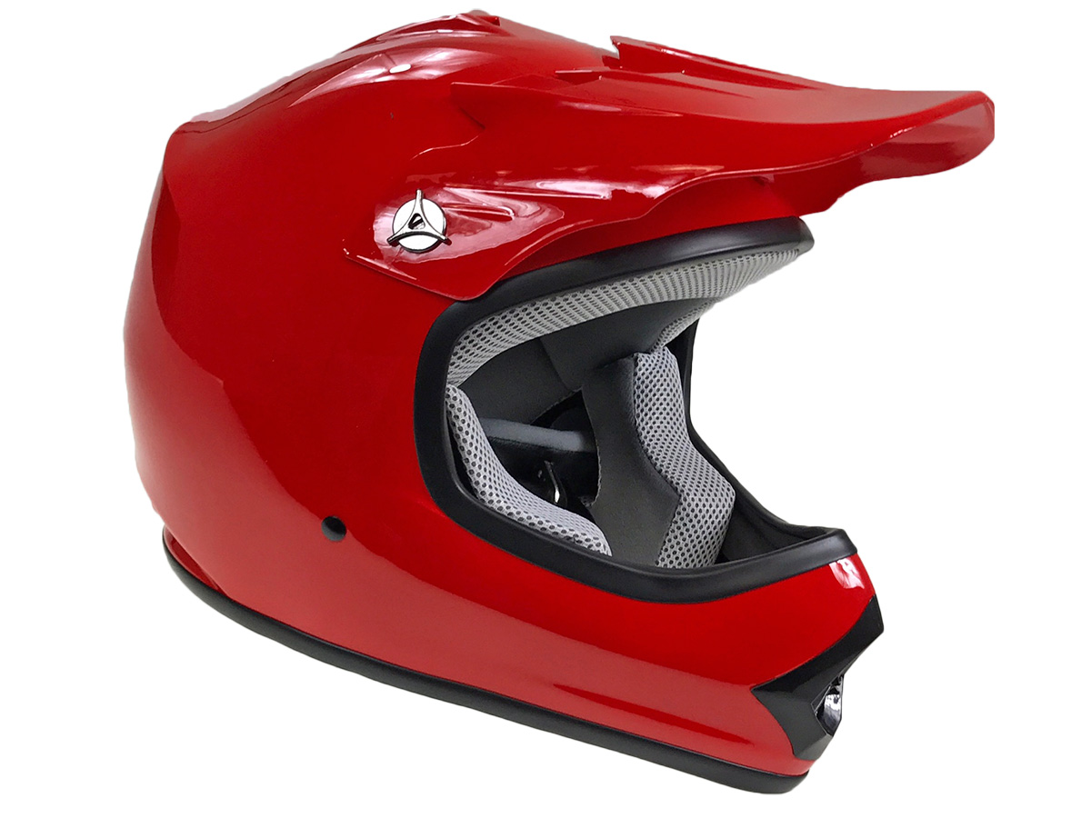 Youth Red DOT Approved Dirt Bike ATV Motorcycle Motocross Offroad Helmet - XL