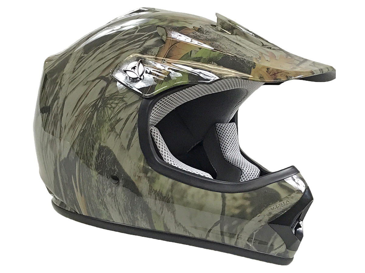 Youth Tree Camo DOT Approved Dirt Bike ATV Motorcycle Motocross Offroad Helmet - XL