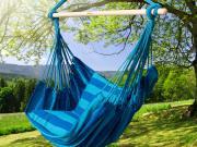 Garden Seaside Stripe Soft Comfort Hanging Rope Hammock Chair