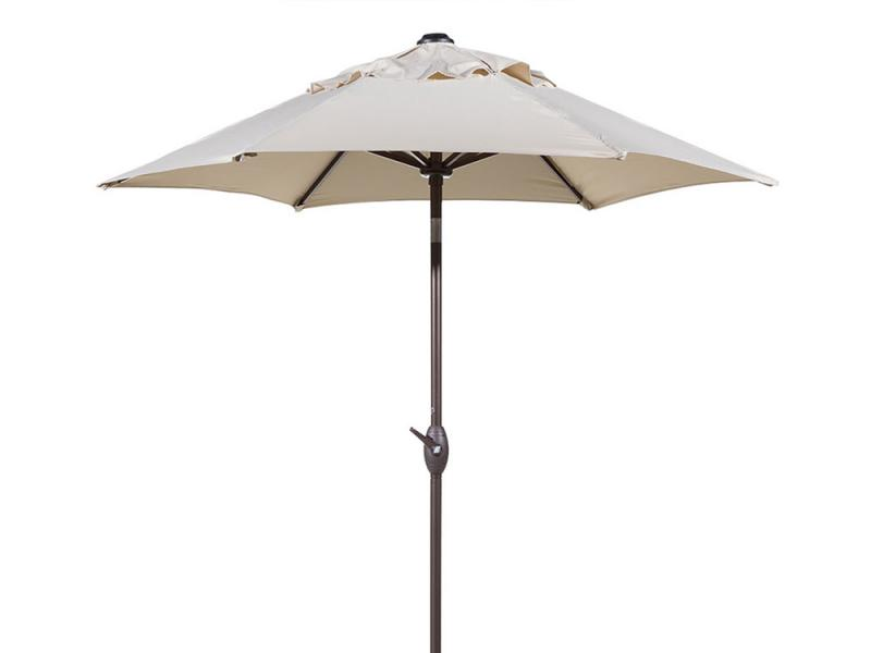 Round Outdoor Market Patio Umbrella with Push Button Tilt and Crank Lift