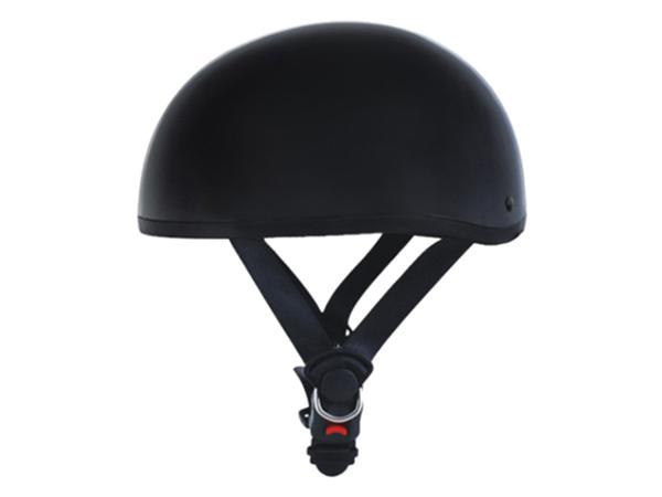 Adult Matte Black Cruising Half Face Motorcycle Helmet DOT Approved
