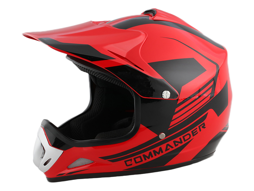 Kids Youth Red DOT Approved Dirt Bike ATV Motorcycle Motorcross Helmet - XL