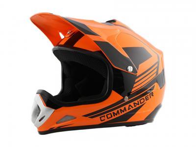 Kids Youth Orange DOT Approved Dirt Bike ATV Motorcycle Motorcross Helmet