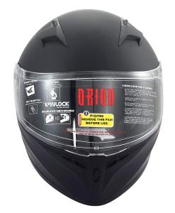Matte Black Adult Helmet Orion Zero
